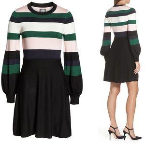 Balloon Sleeve Fit & Flare Sweater Dress XXL Flaw